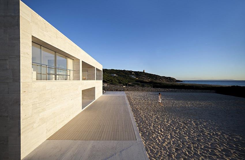 ideas de travertino para casas de playa