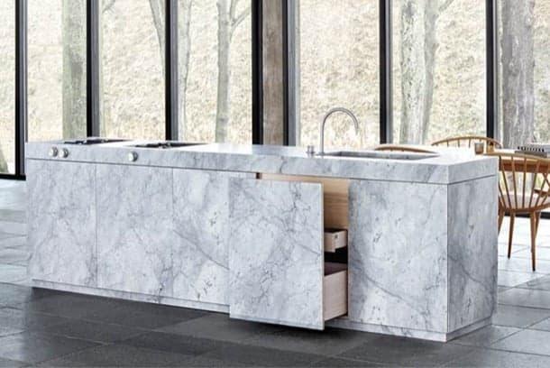 Encimera De Marmol Carrara Para Cocinas Marmol Peru - Cocinas-con-marmol