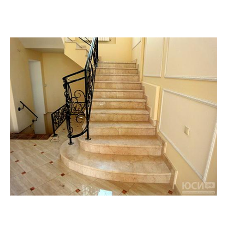 Escaleras de m rmol travertino m rmol per for Marmol travertino claro